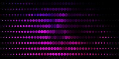 Dark Purple, Pink vector backdrop with dots.