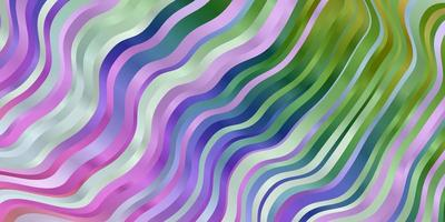 Light Multicolor vector pattern with curves.