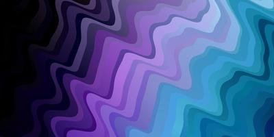 Fondo de vector de color rosa oscuro, azul con curvas.