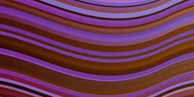 diseño de vector multicolor claro con líneas torcidas.