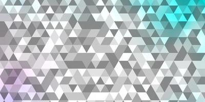 Fondo de vector rosa claro, azul con triángulos.
