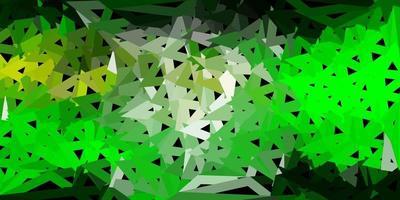 patrón de mosaico de triángulo vector verde claro, amarillo.