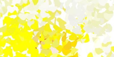 textura de vector amarillo claro con formas de memphis.
