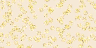 diseño natural de vector amarillo claro con flores.