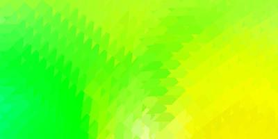 Light green, yellow vector poly triangle template.