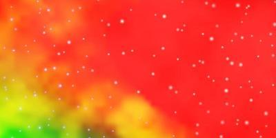 textura de vector multicolor claro con hermosas estrellas.