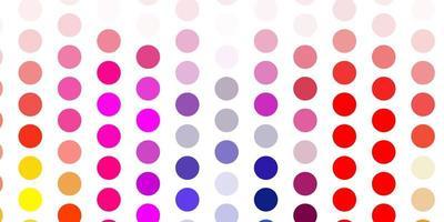 diseño de vector multicolor claro con formas circulares.