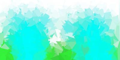 patrón poligonal de vector verde claro.