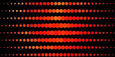 patrón de vector naranja claro con círculos