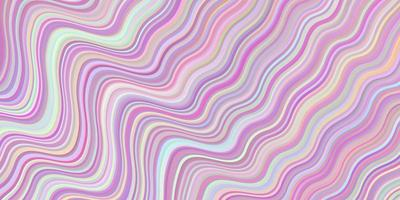 Light Pink, Yellow vector background with wry lines.