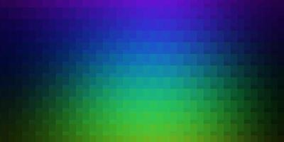 textura de vector multicolor claro en estilo rectangular.