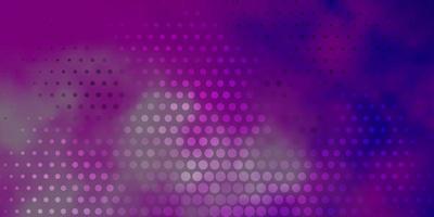 Fondo de vector púrpura claro con manchas.