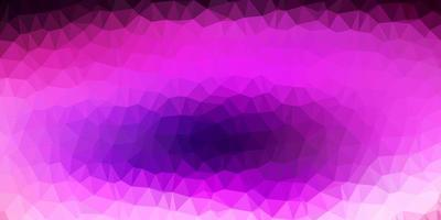 Dark purple, pink vector polygonal background.