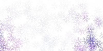 Light purple vector abstract artwork with leaves.