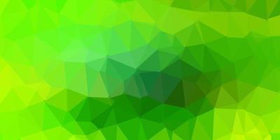 Light green, yellow vector triangle mosaic pattern.