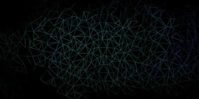 Telón de fondo de mosaico de triángulo vector verde oscuro.