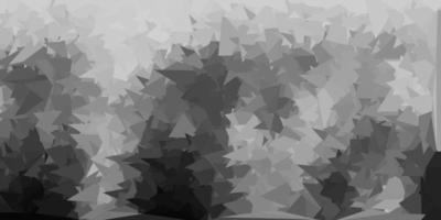 Fondo de pantalla de polígono degradado vectorial gris claro.