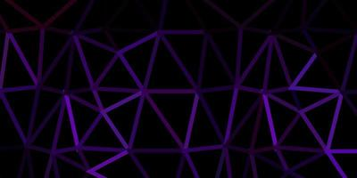 Dark purple, pink vector triangle mosaic backdrop.