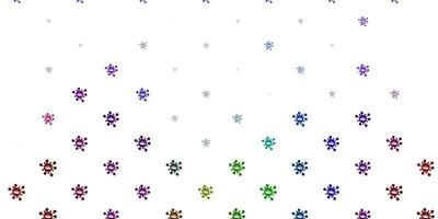 Light multicolor vector template with flu signs