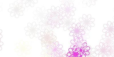 Light Pink, Yellow vector natural layout with flowers.