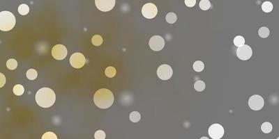 diseño de vector naranja claro con círculos, estrellas.