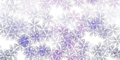 plantilla abstracta de vector púrpura claro con hojas.