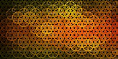 patrón de vector verde oscuro, amarillo con elementos mágicos.