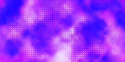 Fondo de vector púrpura claro con círculos.