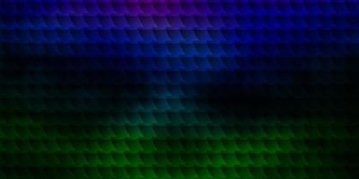 textura de vector multicolor oscuro en estilo rectangular.