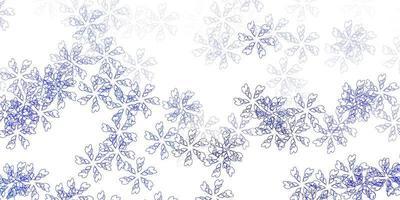 Fondo abstracto de vector azul claro con hojas.
