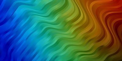 diseño de vector multicolor oscuro con arco circular.