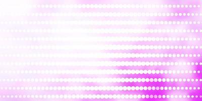 telón de fondo de vector púrpura claro con círculos.
