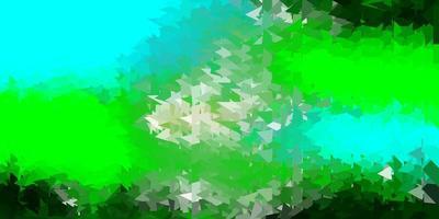 Plantilla de triángulo de poli vector azul claro, verde.