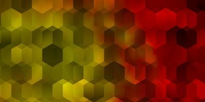 Light Red, Yellow vector texture with colorful hexagons.