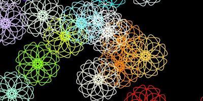 plantilla de vector multicolor oscuro con formas abstractas.