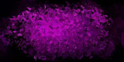 Dark purple vector polygonal pattern.