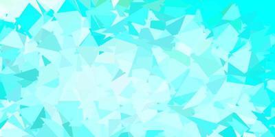 textura de triángulo de poli vector azul claro, verde.
