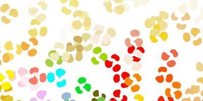 patrón de vector multicolor claro con formas abstractas.