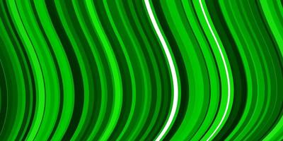 plantilla de vector verde claro con líneas torcidas.