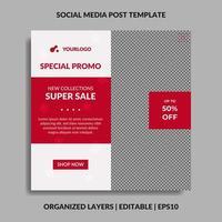 Christmas special promo social media post template vector