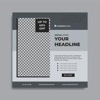 Furniture promo social media post template vector