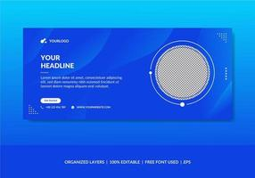 Corporate social media cover template vector