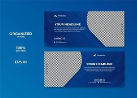 Multipurpose social media cover template vector