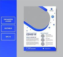 Healthcare minimalist flyer template