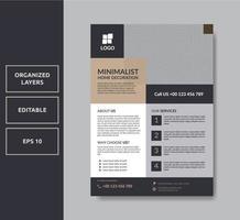 Business minimalist flyer template vector