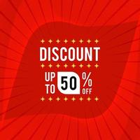Discount Banner With Special Offer. Sale Banner With Discount Word.