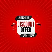 Discount Offer Banner. Sale Banner With Discount Offer.