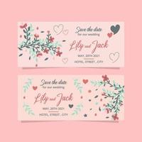 Floral Wedding Banner Collection. Wedding Banner Template With Floral Design. vector