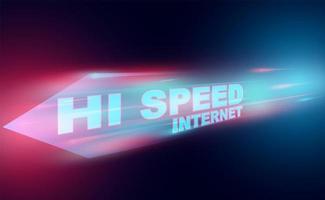 High speed internet technology banner vector