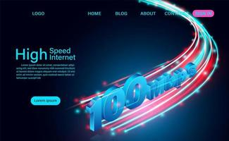 página de inicio de tecnología de internet de alta velocidad vector